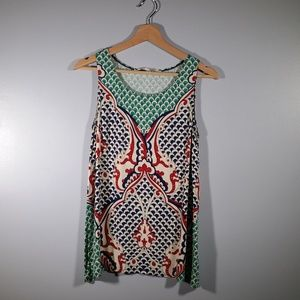 Max Studio Sleeveless Patterned Top Size S